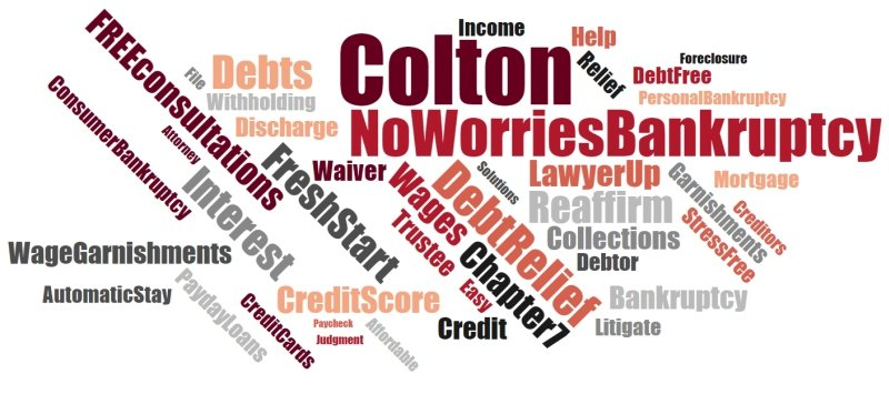 Colton California affordable bankruptcy services