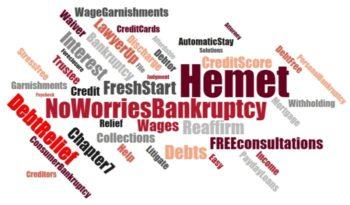 Stop wage garnishments in Hemet